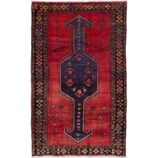 eCarpetGallery  Hand-knotted Koliai Red Wool Rug - 4'4 x 7'1