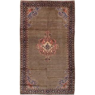 eCarpetGallery  Hand-knotted Koliai Light Brown Wool Rug - 5'3 x 9'3