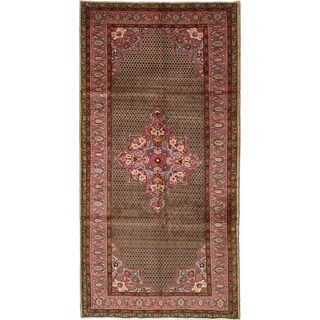 eCarpetGallery  Hand-knotted Koliai Brown Wool Rug - 5'1 x 10'0