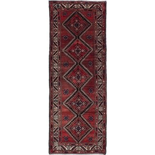 eCarpetGallery  Hand-knotted Koliai Dark Red Wool Rug - 3'9 x 10'4