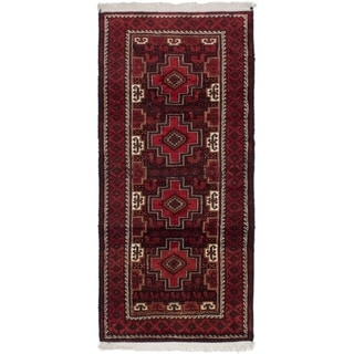 eCarpetGallery  Hand-knotted Finest Baluch Red Wool Rug - 4'1 x 8'7