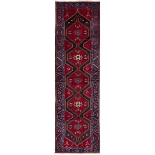eCarpetGallery  Hand-knotted Koliai Red Wool Rug - 3'6 x 12'10