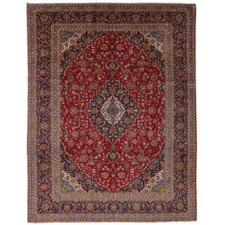 eCarpetGallery  Hand-knotted Kashan Red Wool Rug - 9'5 x 12'7
