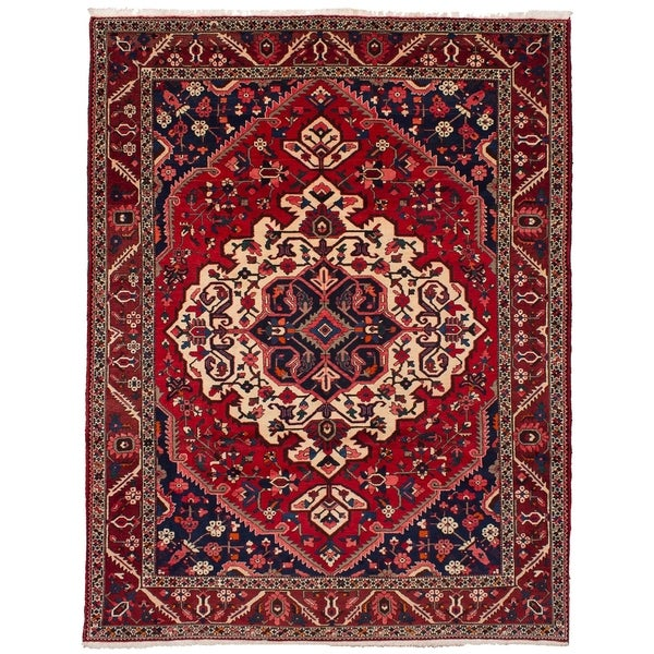 eCarpetGallery Hand-knotted Bakhtiar Red Wool Rug - 9'3 x 11'9