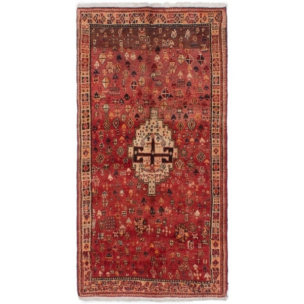 eCarpetGallery Hand-knotted Persian Vintage Dark Copper Wool Rug - 3'6 x 6'10