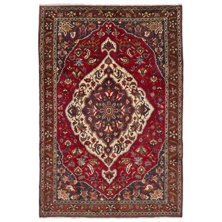 eCarpetGallery  Hand-knotted Bakhtiar Red Wool Rug - 6'6 x 9'7