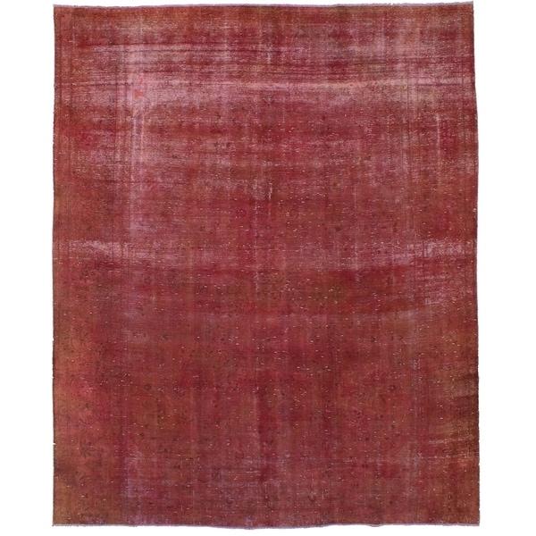 eCarpetGallery Hand-knotted Vogue Dark Copper Wool Rug - 9'2 x 11'8