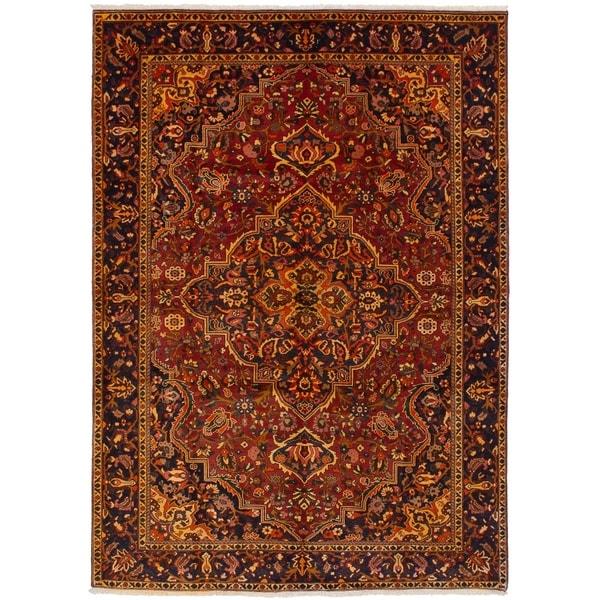 eCarpetGallery Hand-knotted Bakhtiar Dark Red Wool Rug - 6'6 x 9'8