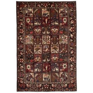 eCarpetGallery  Hand-knotted Bakhtiar Dark Red Wool Rug - 7'0 x 10'7