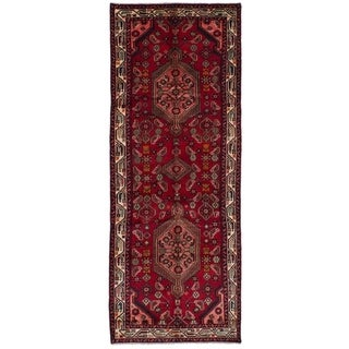 eCarpetGallery  Hand-knotted Koliai Red Wool Rug - 3'8 x 10'0