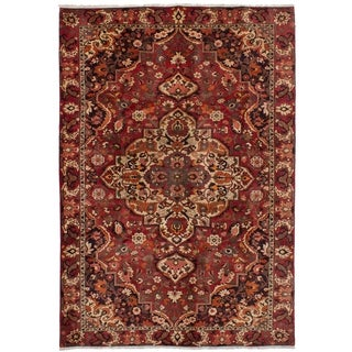 eCarpetGallery  Hand-knotted Bakhtiar Red Wool Rug - 6'7 x 9'8
