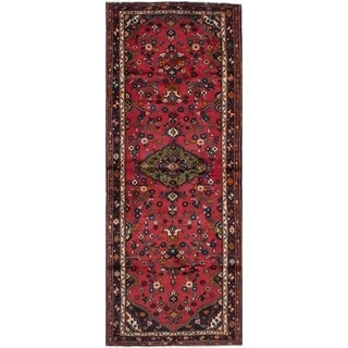 eCarpetGallery  Hand-knotted Hamadan Red Wool Rug - 3'10 x 10'5