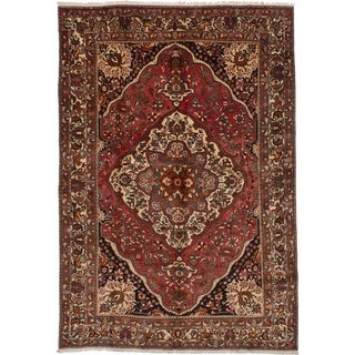 eCarpetGallery  Hand-knotted Bakhtiar Red Wool Rug - 7'2 x 10'6