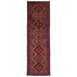 eCarpetGallery  Hand-knotted Koliai Red Wool Rug - 3'3 x 10'11