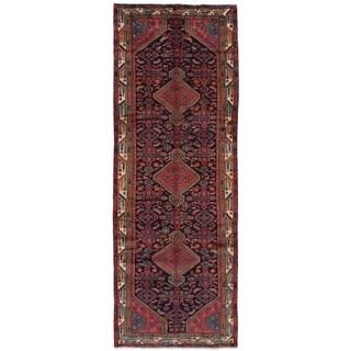 eCarpetGallery  Hand-knotted Koliai Dark Navy Wool Rug - 3'5 x 10'4