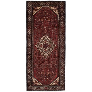 eCarpetGallery  Hand-knotted Hosseinabad Dark Copper Wool Rug - 4'0 x 9'9