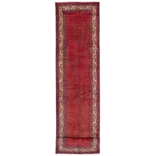 eCarpetGallery  Hand-knotted Arak Red Wool Rug - 3'2 x 14'2