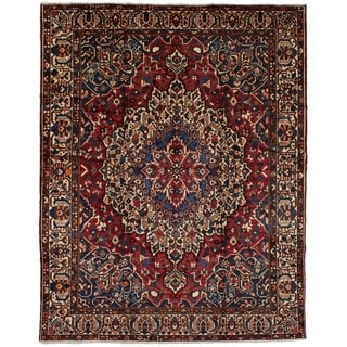 eCarpetGallery  Hand-knotted Bakhtiar Red Wool Rug - 9'11 x 12'6