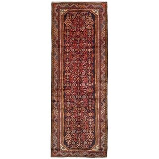 eCarpetGallery  Hand-knotted Hosseinabad Dark Copper Wool Rug - 3'7 x 9'9