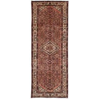 eCarpetGallery  Hand-knotted Hosseinabad Dark Copper Wool Rug - 3'7 x 10'1