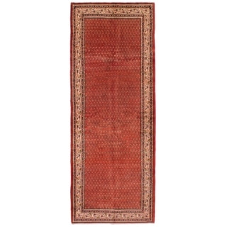 eCarpetGallery  Hand-knotted Arak Red Wool Rug - 3'8 x 9'11