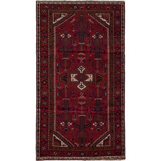 eCarpetGallery  Hand-knotted Hamadan Red Wool Rug - 3'9 x 6'10