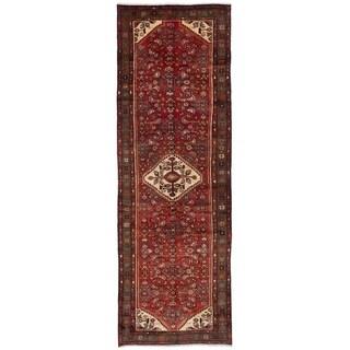eCarpetGallery  Hand-knotted Hosseinabad Dark Copper Wool Rug - 3'5 x 10'6
