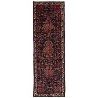 eCarpetGallery  Hand-knotted Koliai Dark Navy Wool Rug - 3'7 x 11'0