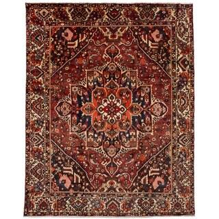 eCarpetGallery  Hand-knotted Bakhtiar Dark Red Wool Rug - 10'0 x 12'4