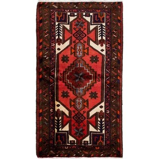 eCarpetGallery  Hand-knotted Hamadan Dark Copper Wool Rug - 2'11 x 5'4