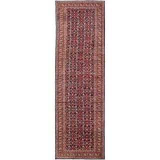 eCarpetGallery  Hand-knotted Mahal Dark Navy Wool Rug - 3'9 x 12'2