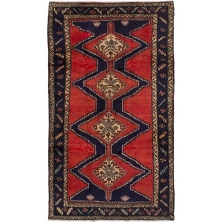 eCarpetGallery  Hand-knotted Koliai Red Wool Rug - 4'8 x 8'6