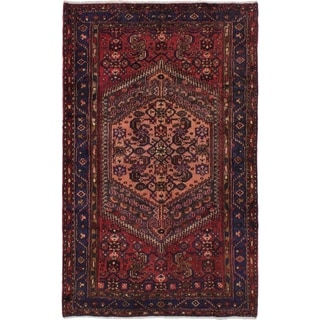 eCarpetGallery  Hand-knotted Hamadan Red Wool Rug - 4'2 x 6'8