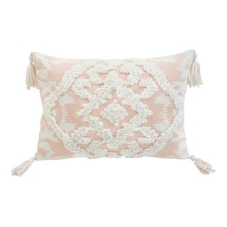 Corded Morocco Embroidered Decorative Throw Pillow