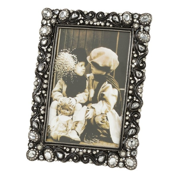 Saro Lifestyle Ornate Border Bejeweled Picture Frame