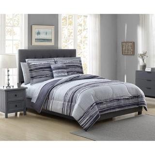 Hamilton Hall Baxter Stripe Reversible 6 & 8 Piece Comforter Set