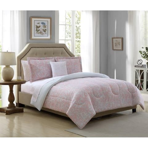 Lemon & Spice Meadows Botanical Reversible 6 & 8 Piece Comforter set