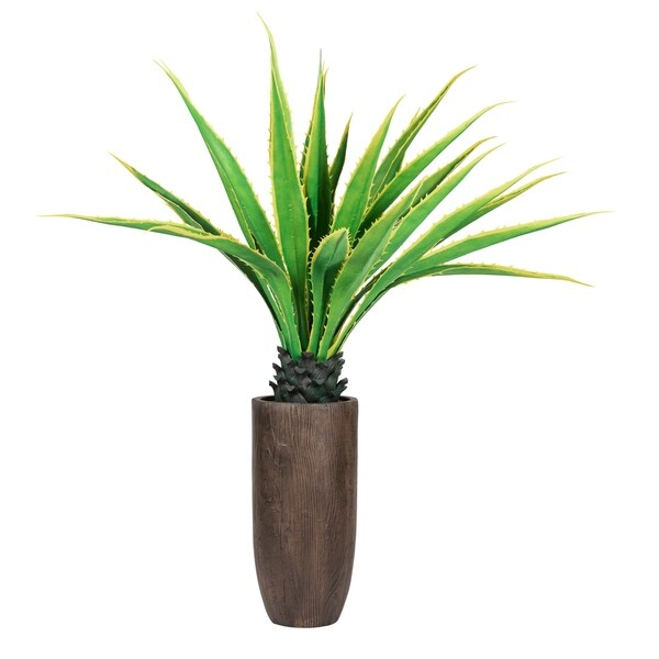 """Laura Ashley 62.25"""" Real Touch Agave Plantin Resin Planter"""