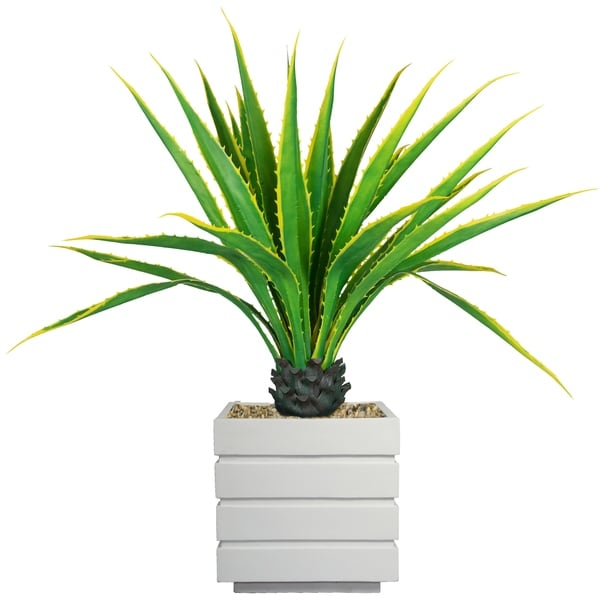 "Laura Ashley 54"" Real Touch Agave Plantin Resin Planter"