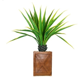 """Laura Ashley 57"""" Real Touch Agave Plantin Resin Planter"""
