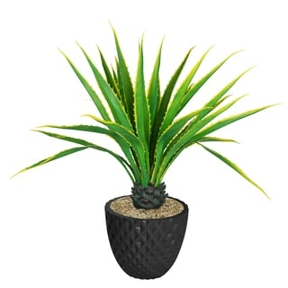 """Laura Ashley 53.6"""" Real Touch Agave Plantin Resin Planter"""