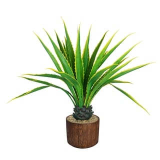 """Laura Ashley 53"""" Real Touch Agave Plantin Resin Planter"""