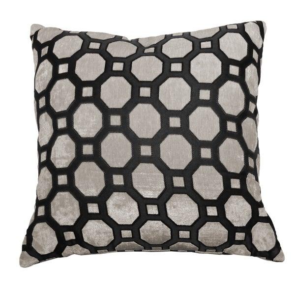 Circle Velvet Feel Decorative Pillow