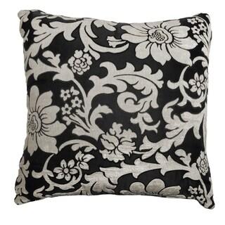 Floral Velvet Feel Decorative Pillow