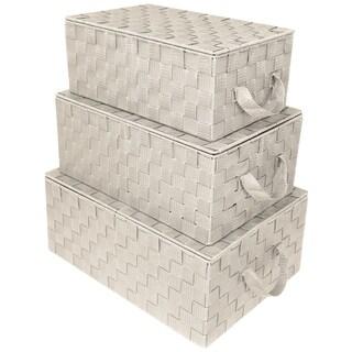 Woven Storage Basket - Biege