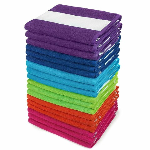 Kaufman - Cabana Terry Loop Towel 18-Pack - 30in x 60in