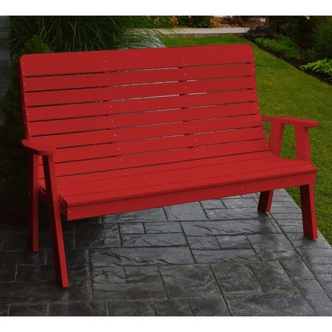 Kalifornsky Outdoor 5-foot Recycled Plastic Garden Bench by Havenside Home