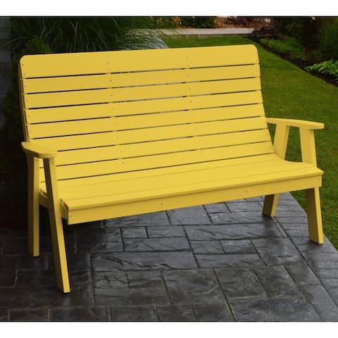 Kalifornsky Outdoor 5-foot Recycled Plastic Garden Bench by Havenside Home