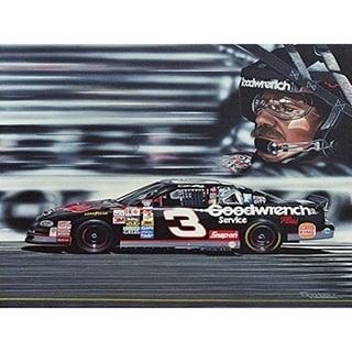 Link to CANVAS Dale Earnhardt by Darryl Vlasak Oil Painting Print on Wrapped Canvas - 12 x 16 Similar Items in Art Prints