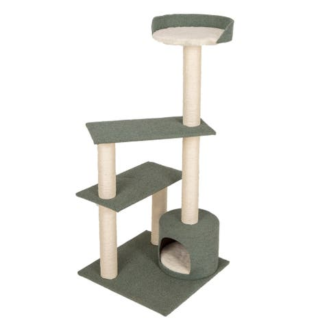 """Contemporary Cat Tower, 49"""""""